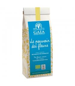 Die Kraft der Blüten aromatisierte BIO-Tee-Mischung mit Holunder & Himbeere - 50g - Les Jardins de Gaïa