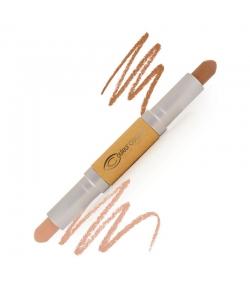 Crayon double embout contour visage BIO N°52 Moyen - 2x2,8g - Couleur Caramel