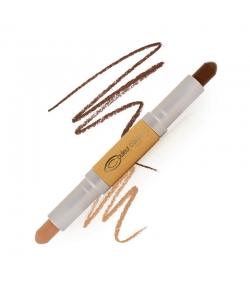 Crayon double embout contour visage BIO N°53 Foncé - 2x2,8g - Couleur Caramel
