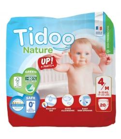 Culottes d'apprentissage écologiques Taille 4 M 8-15 kg - 1 sac de 20 pièces - Tidoo Up! Pants