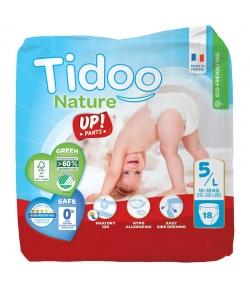 Culottes d'apprentissage écologiques Taille 5 L 12-18 kg - 1 sac de 18 pièces - Tidoo Up! Pants