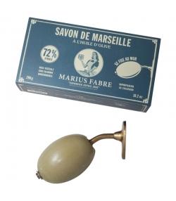 Grüne Marseiller Seife für Wandbefestigung mit Olivenöl - 290g - Marius Fabre Nature