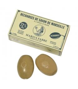 Recharge Savon de Marseille vert à fixer au mur à l'huile d'olive - 2x290g - Marius Fabre Nature