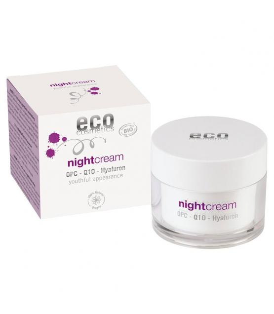 Crème de nuit BIO OPC, Q10 & acide hyaluronique - 60ml - Eco Cosmetics