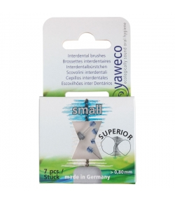Brossettes interdentaires grises Small - 7 pièces - Yaweco