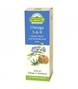 Omega 3-6-9 huile de lin, huile de chanvre & huile de pépins de courge vierge BIO - 250ml - Rapunzel