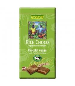 Chocolat végan Rice Choco avec des éclats de noisettes BIO - 100g - Rapunzel