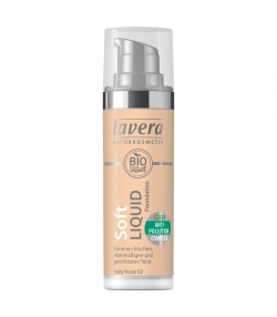 Fond de teint liquide BIO N°02 Ivory Nude - 30ml - Lavera