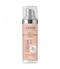 Crème hydratante teintée 3 en 1 BIO N°00 Ivory Rose - 30ml - Lavera