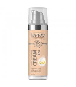 3-in-1 Getönte BIO-Feuchtigkeitscreme Q10 N°02 Ivory Nude - 30ml - Lavera