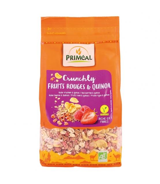 Crunchly fruits rouges & quinoa BIO - 365g - Priméal