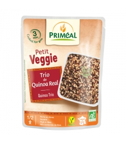 Vorgegarter BIO-Quinoa Trio - 220g - Priméal Le petit veggie