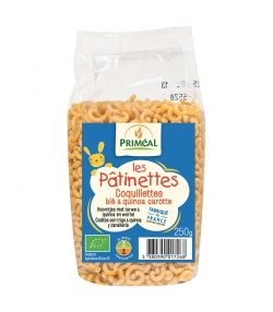 Coquillettes blé & quinoa carotte BIO - 250g - Priméal Les pâtinettes