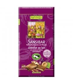 Chocolat au lait, prunes et épices ayurvédiques Sansibar BIO - 80g - Rapunzel