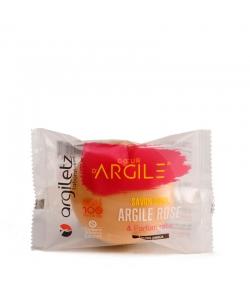 BIO-Seife beruhigend rosa Tonerde & Rose - 100g - Argiletz