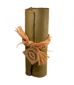 """Savon de Marseille vert """"en rouleau & lien raphia"""" à l'huile d'olive - 3kg - Marius Fabre Nature"""