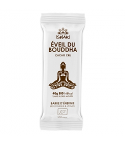 Barre d'énergie cacao cru BIO - 40g - Iswari Éveil du Bouddha