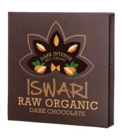 Chocolat cru noir intense BIO 85% cacao - 75g - Iswari