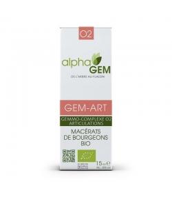 Macérats de bourgeons BIO gemmo-complexe N°2 GEM-ART Structure articulaire - 50ml - Alpha GEM