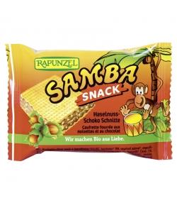 Gaufrettes à la crème de chocolat & aux noisettes Snack Samba BIO - 25g - Rapunzel