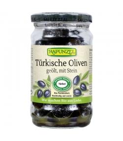 Olives noires turques avec noyaux à l'huile d'olive BIO - 185g - Rapunzel