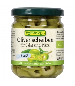 Rondelles d'olives pour salades et pizzas en saumure BIO - 190g - Rapunzel