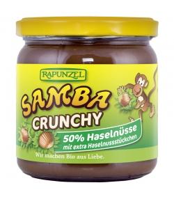 Pâte à tartiner chocolatée aux noisettes & éclats de noisettes Samba Crunchy BIO - 375g - Rapunzel