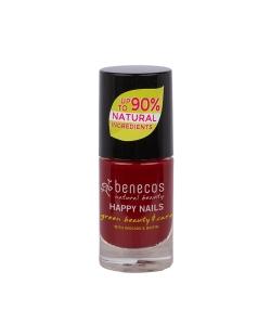 Nagellack glänzend Dunkles Rot – Cherry red – 5ml – Benecos