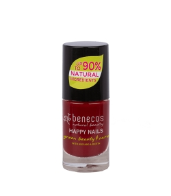 Vernis à ongles brillant Rouge foncé – Cherry red – 5ml – Benecos