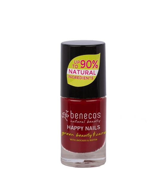 Vernis à ongles brillant Rouge foncé - Cherry red - 5ml - Benecos