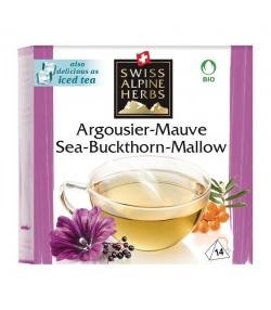 Infusion argousier & mauve BIO - 14 sachets - Swiss Alpine Herbs