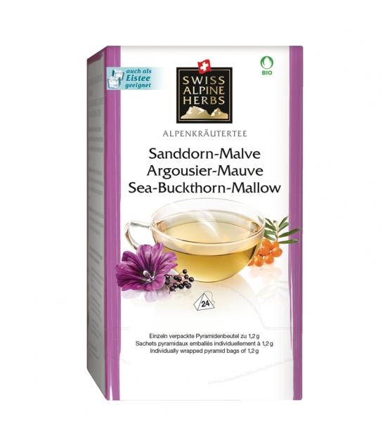 Infusion argousier & mauve BIO - 24 sachets - Swiss Alpine Herbs