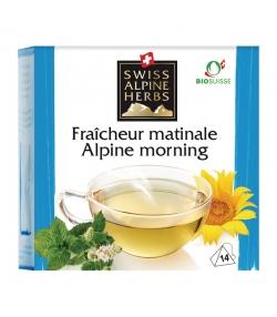 Infusion fraîcheur matinale BIO - 14 sachets - Swiss Alpine Herbs