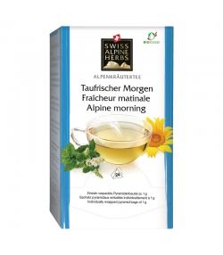 Infusion fraîcheur matinale BIO - 24 sachets - Swiss Alpine Herbs