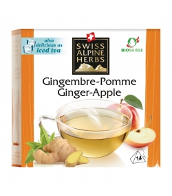 Infusion gingembre & pomme BIO - 14 sachets - Swiss Alpine Herbs