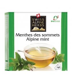 Infusion menthes des sommets BIO - 14 sachets - Swiss Alpine Herbs