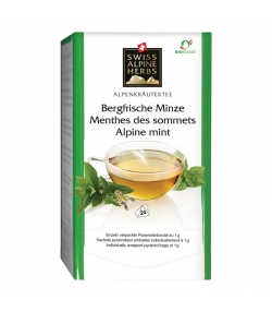 BIO-Kräutertee Bergfrische Minze - 24 Teebeutel - Swiss Alpine Herbs