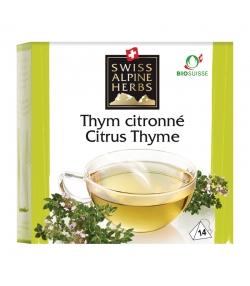 BIO-Kräutertee Zitronenthymian - 14 Teebeutel - Swiss Alpine Herbs