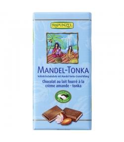 Chocolat au lait fourré à la crème d'amande et de tonka BIO - 100g - Rapunzel