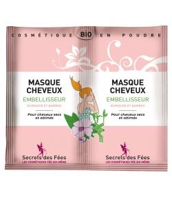 Masque cheveux embellisseur BIO guimauve & bambou - 2x8g - Secrets des Fées