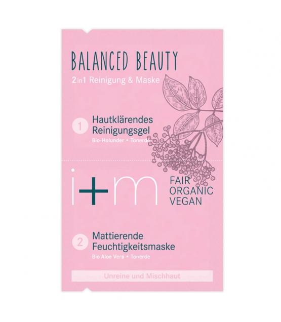 2in1 BIO-Reinigung & Maske Balanced Beauty Holunder & Tonerde - 2x4ml - i+m Naturkosmetik Berlin