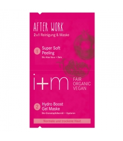 2in1 BIO-Reinigung & Maske After Work Granatapfel & Hyaluron - 2x4ml - i+m Naturkosmetik Berlin