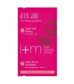 Nettoyant & masque 2 en 1 après travail BIO grenade & acide hyaluronique - 2x4ml - i+m Naturkosmetik Berlin