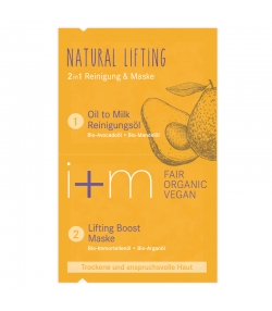 2in1 BIO-Reinigung & Maske Natural Lifting Avocado & Argan - 2x4ml - i+m Naturkosmetik Berlin