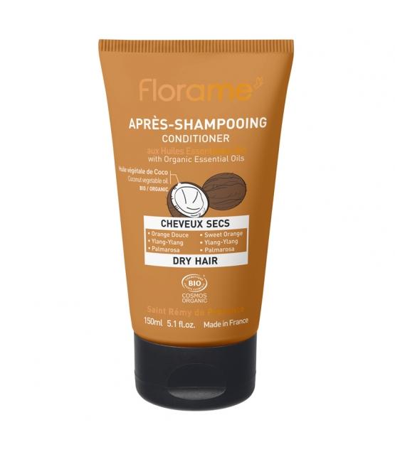 Après-shampooing cheveux secs BIO orange douce, ylang-ylang & palmarosa - 150ml - Florame