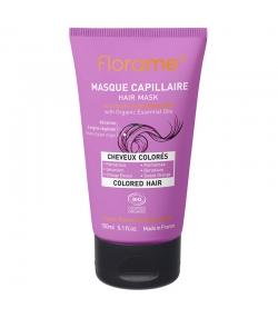 Masque capillaire cheveux colorés BIO palmarosa, géranium & orange douce - 150ml - Florame