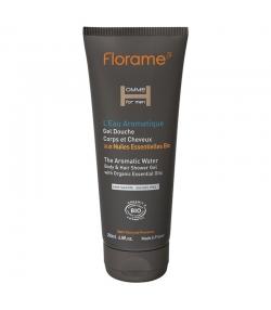 Gel douche corps & cheveux homme BIO L'eau Aromatique - 200ml - Florame