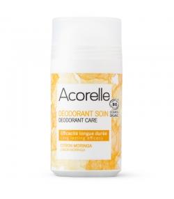 Déodorant à bille soin efficacité longue durée BIO citron & moringa - 50ml - Acorelle