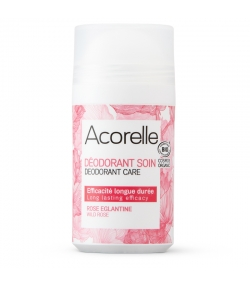 Déodorant à bille soin efficacité longue durée BIO rose & églantine - 50ml - Acorelle