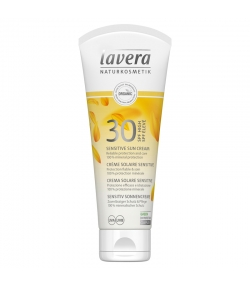 Crème solaire sensitive visage & corps BIO IP 30 avocat & tournesol - 100ml - Lavera Sun